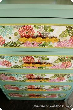 Refinishing a Dresser: super awesome  I want this!