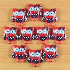 10pcs Patriotic Owl 4 of July American Resin Flatbacks Hair Bow Center Crafts #5