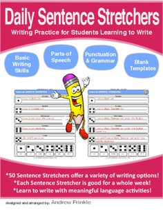 Daily Sentence Stretchers  - Creative Writing Resource for Primary Grades from Velerion-Damarke from Velerion-Damarke on TeachersNotebook.com (64 pages)  - Daily Sentence Stretchers makes your daily writing process easier by offering a variety of meaningful writing activities.