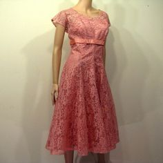 Vintage 1950s Dress // 50s Lace Cocktail by TravelingCarousel, $195.00