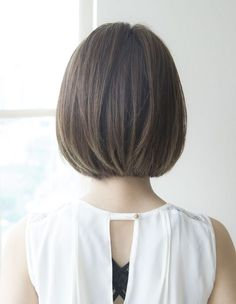 HA-80ナチュラルボブ | ヘアカタログ・髪型・ヘアスタイル|AFLOAT(アフロート)表参道・銀座・名古屋の美容室・美容院 Side Bangs Hairstyles, Thin Hair Haircuts, Medium Bob Hairstyles, Girl Short Hair, Short Hair Cuts, Asian Haircut Short, Blonde Hair For Brunettes, Chin Length Hair, Cabello Hair