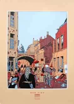 Yves Chaland - ex libris Bob Fish Comic Book Artists, Comic Artist, Comic Books Art, Superman, Batman, Comics Story, Bd Comics, Illustrations, Illustration Art