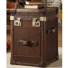 Crocodile Steamer Trunk By Lazzaro Leather · Sofa End TablesSteamer ...