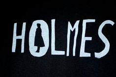 BBC Sherlock Holmes SilkScreened Shirt by cosmiclattetangerine, $ 15.00