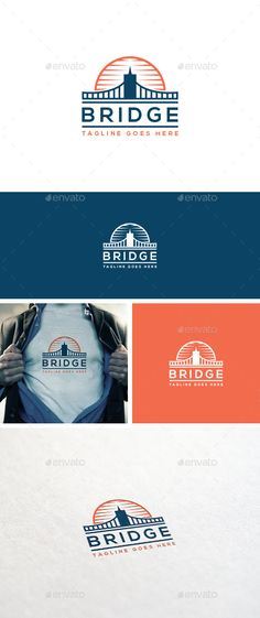 Bridge Logo Template — Photoshop PSD #strong #business • Available here → https://graphicriver.net/item/bridge-logo-template/10943610?ref=pxcr