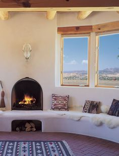 spanish moroccan adobe fireplaces - Google Search