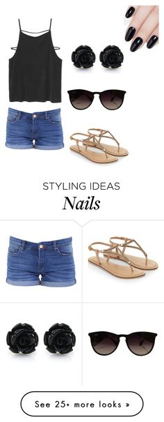 """By Olivia"" by lulubella1972 on Polyvore featuring BLANKNYC, Accessorize, Ray-Ban and ncLA"