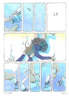 今日マチ子のセンネン画報-頭 Comic Layout, Cute Comics, Gay Art, Manga, Comic Artist, Anime Comics, Oceans, Storyboard, Pretty Pictures