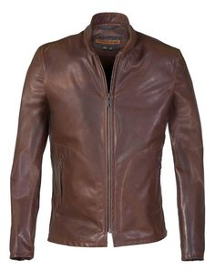 P571 - Mission Stylish Jackets, Cool Jackets, Men's Jackets, Men's Leather Jacket, Leather Men, Leather Jackets, Jacket Men, Brown Leather, Cafe Racer Moto