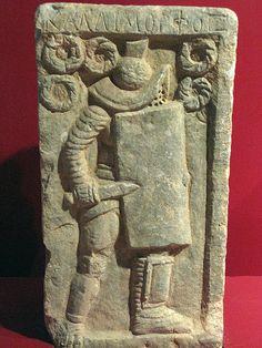 Gladiator tombstone - murmillo