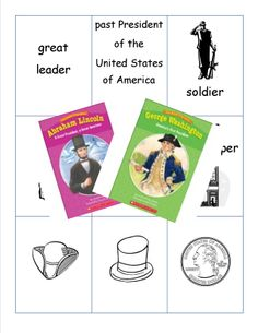 Read about George Washington & Abraham Lincoln.  Compare and contrast their lives.  Meets Common Core State Standards for kindergarten.