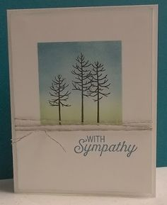 Stampin' on the Prairie: With Sympathy Card, Thoughtful Branches, Flourishing Phrases stamp sets from Stampin' Up!