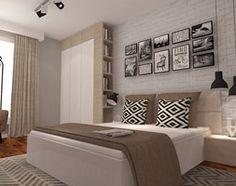 Aranżacje wnętrz - Sypialnia: Sypialnia z dodatkiem cegły - Sypialnia, styl skandynawski - ARCHITETTO. Przeglądaj, dodawaj i zapisuj najlepsze zdjęcia, pomysły i inspiracje designerskie. W bazie mamy już prawie milion fotografii!