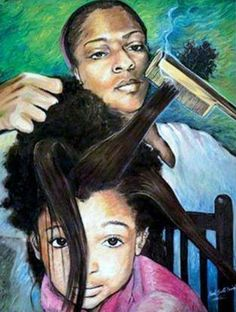 "Age Check: Click LIKE if you remember your mother pressing your hair when you were younger and saying, ""Child hush, it is just the heat"" LOL! -Essentious...respect to the Old School! Courtesy: Essentious HairCare"