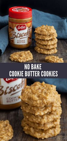No Bake Cookies made with Cookie Butter are a tasty twist on classic no bake oatmeal cookies. This is one version you will want to make time and time again! bake Desserts No Bake Cookies with Cookie Butter Biscoff Cookie Butter, Butter Cookies Recipe, No Bake Cookies, Cookies Et Biscuits, Oatmeal Cookies, What Is Cookie Butter, Biscoff Recipes, Easy Cookie Recipes, Baking Recipes
