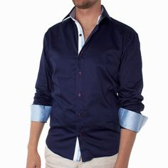 Adam Shirt Navy, now featured on Fab.