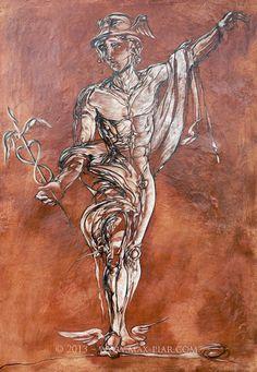 Hermes - Tafelbild Hermes, Art, Figurine, Pictures, Art Background, Kunst, Performing Arts, Art Education Resources, Artworks
