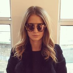 Style star Millie Mackintosh showcases her selfie style on Instagram in chic Olivia Palermo for Westward Leaning sunglasses. Shop the look here...