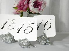 Beach Wedding Table Numbers Assorted Silver Shell #etsyweddings