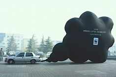 This inflatable is far beyond a DIY project for you and me, but it's impressive and makes a bold statement. WWF used it in China to demonstrate the emissions and pollution coming from one car in a single day.