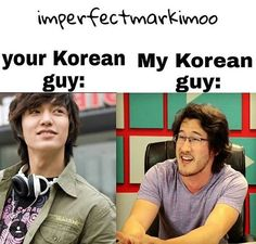 I happen to love them both actually  Lee Min Ho, Mark Fischbach