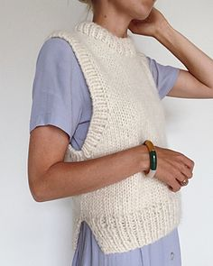 Knitting Projects, Knitting Patterns, Ravelry, Big Yarn, Knit Vest Pattern, Mohair Yarn, Circular Needles, Stockinette, Knit Fashion