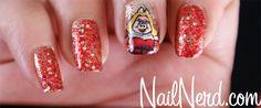 Miss Piggy nail art