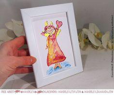 Leak:Amor hat Hörnchen!Wusst ichs dochdass bei diesem angeblichen Engel was faul ist. (ab sofort in den Shops im Original zu haben  auf wandklex.etsy.com und wandklex.dawanda.com ) Material @colirocolors Aquarellfarben und Schmincke Künstlerfarben Horadam auf @hahnemuehle Britannia 300g rauh Referenzfoto lizenziert via @fotolia Malerei und Produktfoto  @wandklex Kunstatelier #wandklex #malerei #handgemalt #aquarell #hahnemühle #kunst #art #watercolor #watercolour #engel #bengel #engelchen…