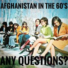 There once was a time when #Afghanistan had much more freedom than they experience today. Seems like another government program that had the opposite effect of their stated goal.