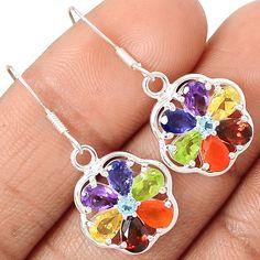 Healing Chakra Amethyst 925 Sterling Silver Earring Jewelry EE3926 | eBay