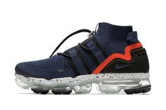 "premium selection 9e890 7d4ea Nike より前作即完の Air VaporMax Flyknit Utility 新色モデル ""College Navy"