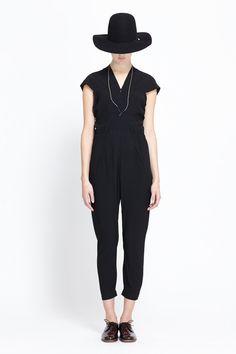 Zero + Maria Cornejo Catia Jumpsuit (Black)
