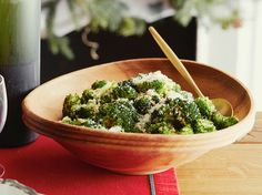 Oven Roasted Broccoli from FoodNetwork.com - made this and ate the whole thing of broccoli myself and then used a spoon to eat the garlic-y crumbs...haha. I used German Red garlic that I bought from my local farmer's market. Spicy garlic goodness!