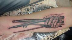 Tatuaje para un amigo músico  Drums