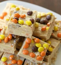 3 Ingredient Reese's Peanut Butter Fudge is a delish candy treat.