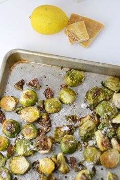 roasted lemon parmesan brussels sprouts
