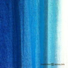 Tecido em degradê 100% linho para uso em cortinas, da Designers Guild.
