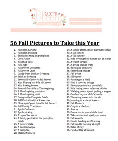fall pictures to take