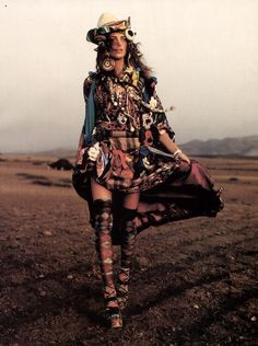 gypsy goddess. give me a desert and some mixed prints
