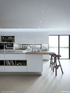 Kitchen Layouts and Lovely Lighting
