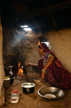 Morning tea in Gujarat, India. By Priti Bhatt.