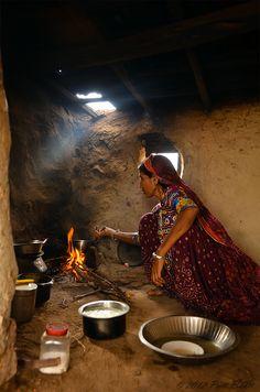 Morning tea in Gujarat, India. By Priti Bhatt.