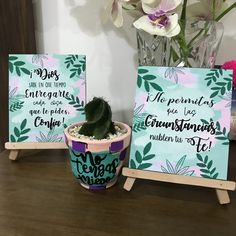 Jesus Is Life, Hand Lettering Tutorial, Painted Flower Pots, Small Canvas, Green Art, Time Art, Wood Art, Diy And Crafts, Projects To Try