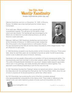 Hey Kids, Meet Wassily Kandinsky | Biography - http://makingartfun.com/htm/f-maf-printit/kandinski-printit-biography.htm