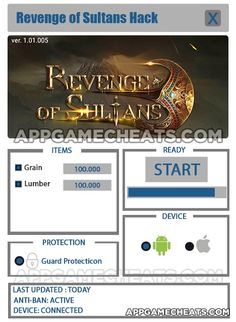 Revenge of Sultans Cheats & Hack for Grain & Lumber  #Action #RevengeofSultans #RPG http://appgamecheats.com/revenge-of-sultans-cheats-hack/