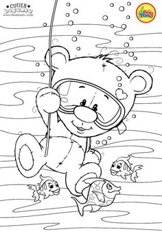 Cuties Coloring Pages for Kids - Free Preschool Printables - Slatkice Bojanke - Cute Animal Coloring Books by BonTon TV Free Adult Coloring, Coloring Sheets For Kids, Cute Coloring Pages, Coloring Books, Art Drawings For Kids, Colorful Drawings, Drawing For Kids, Landscape Pencil Drawings, Kids Cartoon Characters