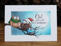 Stampendous Cling Stamp and Die Set Owl Be Home CLD10
