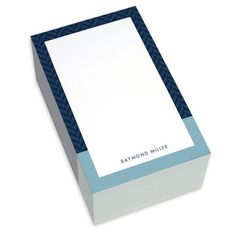 Blue and Navy Herringbone Chunky Notepads