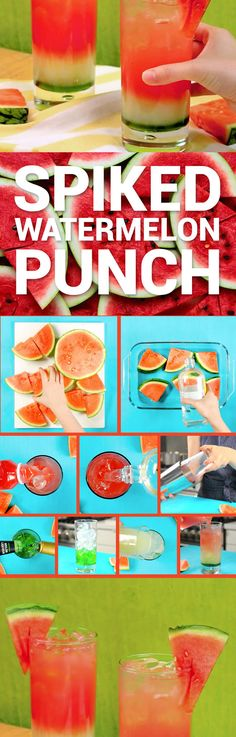 Layered Watermelon Spiked Punch With Boozy Watermelon Recipe Video