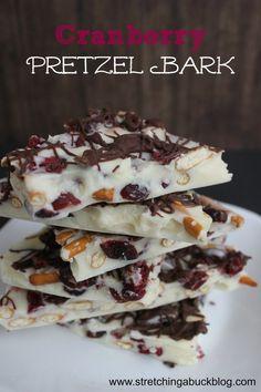 Cranberry Pretzel Bark Recipe   Great DIY Gift Idea